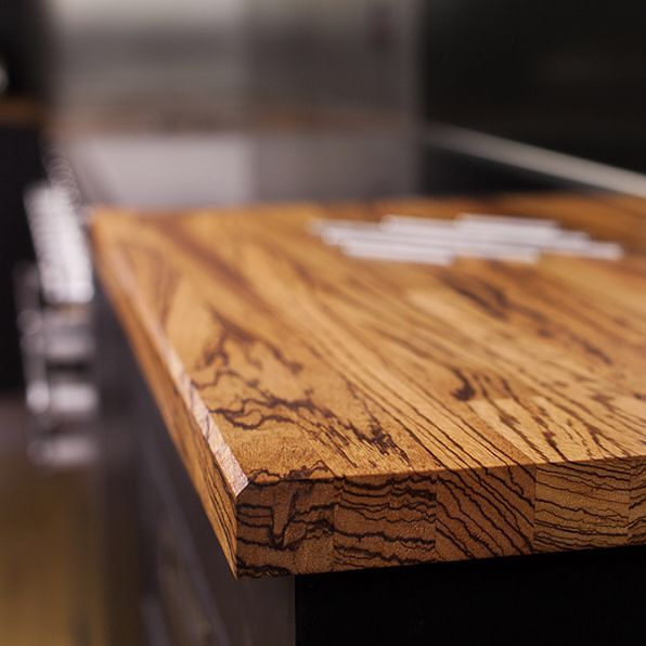 One Of Our Favorite Materials Zebranowood It Is Also Called Zebrawood Because Of Its Special Striped Grain It S Du In 2020 Kitchen Worktop Zebrano Zebra Wood