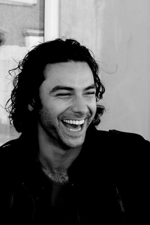Aidan Turner. Now it's getting bad. I have such a weakness for hot guys who smile and laugh a lot. Jeez.