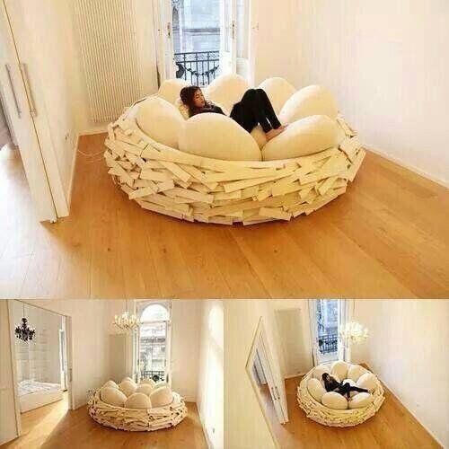 一度は住んでみたい豪邸と素敵なお部屋 面白い家具鳥の巣ベッド