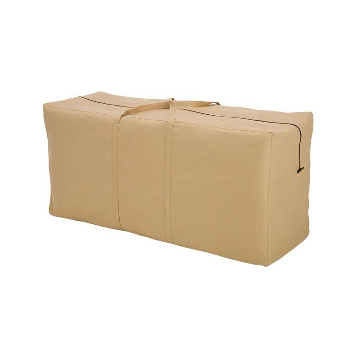 Patio Furniture Cushion Storage #34: Classic Accessories 58982-EC Terrazzo Patio Seat Cushion/ Storage Bag Cover, Patio Furniture