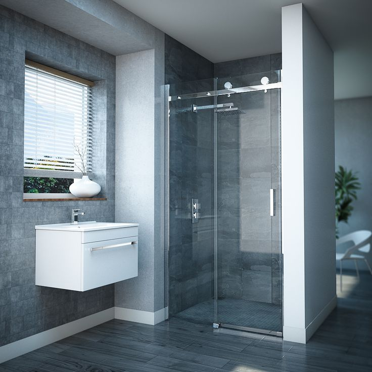 The Nova Frameless Shower Door does away with bulky fittings. Buy your new sleek shower at Victorian Plumbing