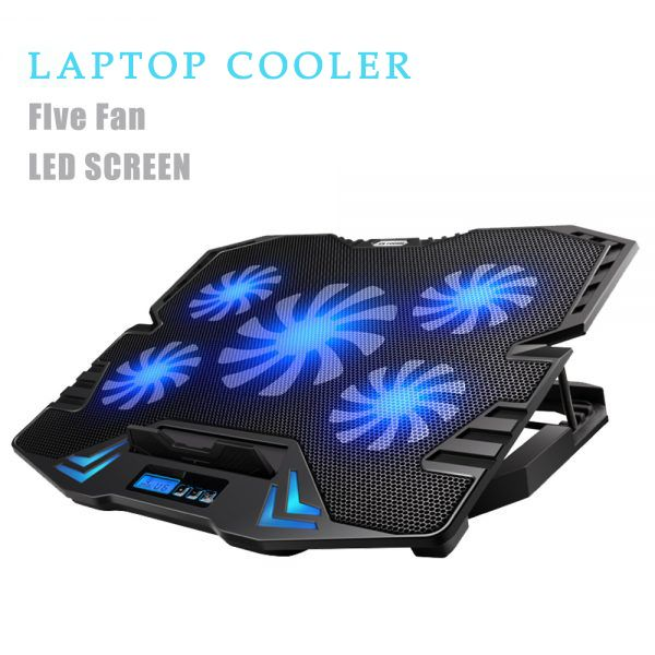C5 12 15 6 Inch Gaming Laptop Cooler Cooling Pad 5 Quite Fans And