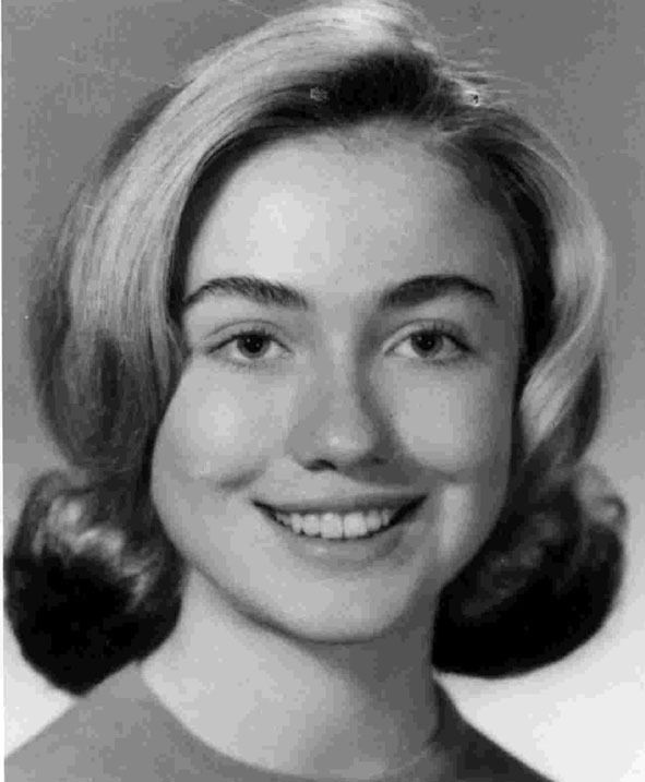 Hillary Clinton High School Picture (1965)
