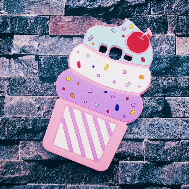 Cute 3D Delicious Ice Cream Cartoon Soft Silicone Phone Cases Cover For Samsung Galaxy Grand Neo i9060 &Grand Duos i9082 i9080