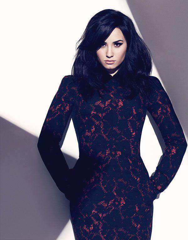 Demi Lovato wears Louis Vuitton inside her FASHION Magazine cover shoot.