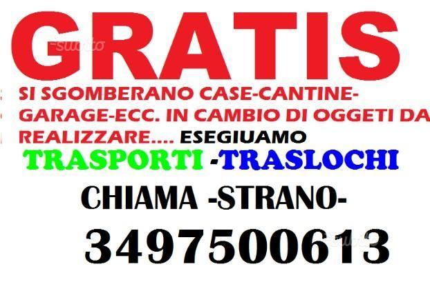 Servizi - Sgomberi trasporti e traslochi (anche noleggio) a Catania