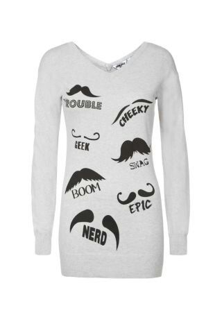 Moustache jumper- new look