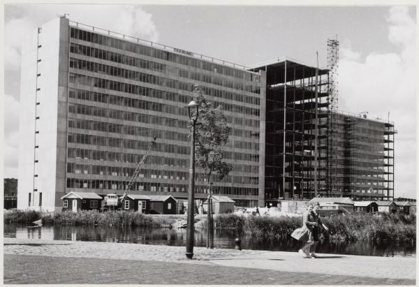 GAK gebouw in aanbouw Stadstuin Bos en Lommer