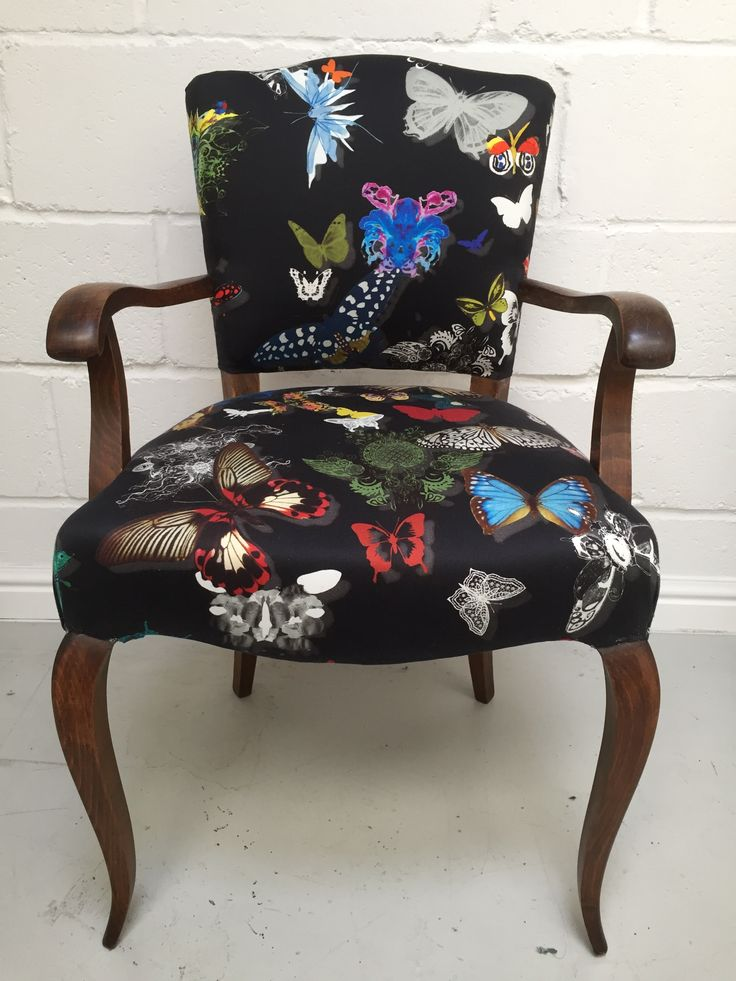 Traditional French chair in Christian Lacroix Butterfly Parade
