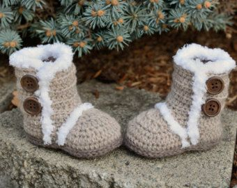 Crochet Baby Boots Baby Girl Boots Crocheted Boots by TheYarnDolls