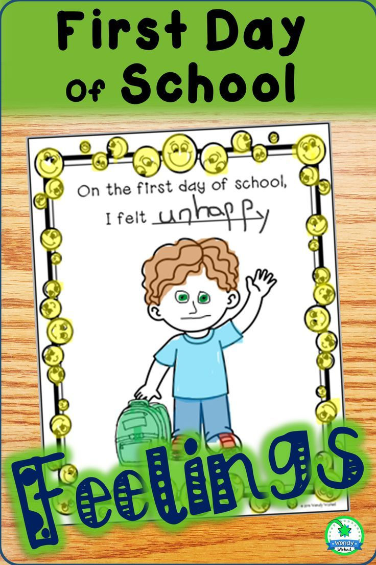 First Day Of School Feelings And Emotions First Day Of School Emotions Activities Activities [ 1104 x 736 Pixel ]