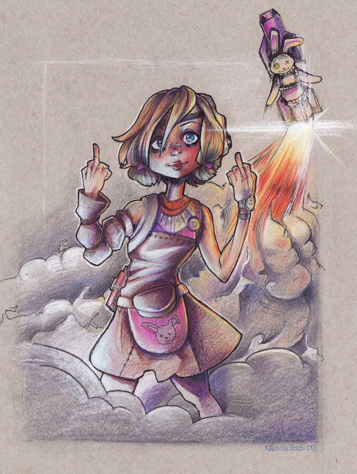 Tiny Tina - Borderlands fanart by Naeviss