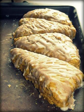 Starbucks Pumpkin Scones recipe - they were a hit! Yum.