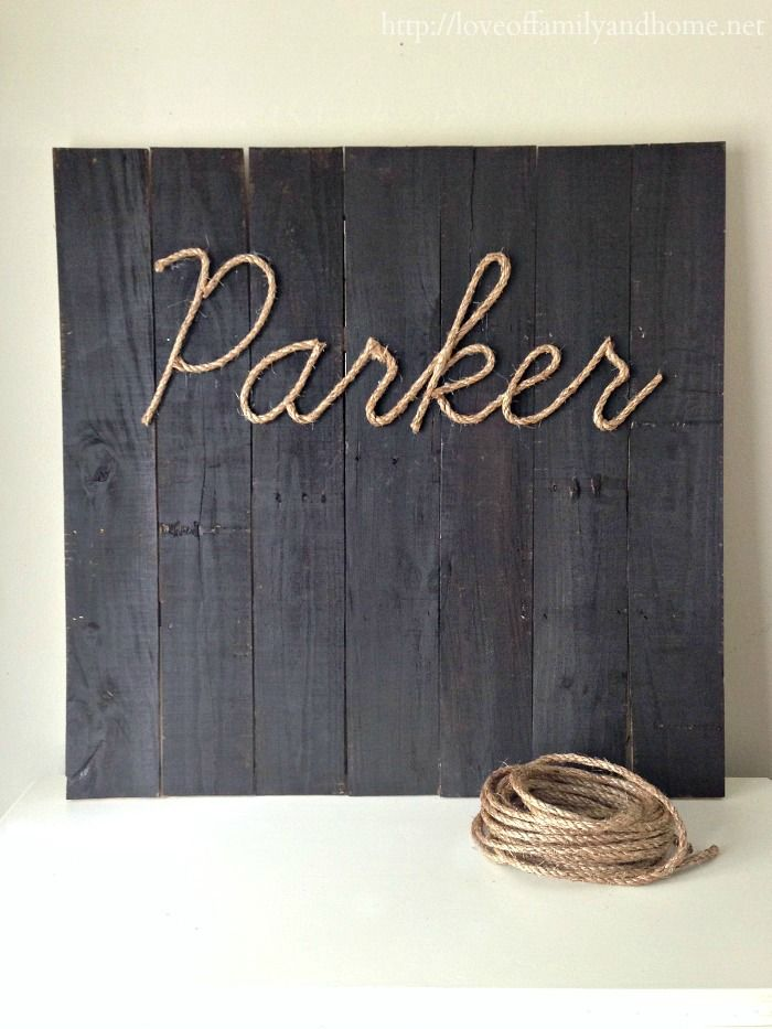 Ever wonder how to make letters with rope? Here is how you do it! Use this technique to create wall decor and signs that stand out from the rest!