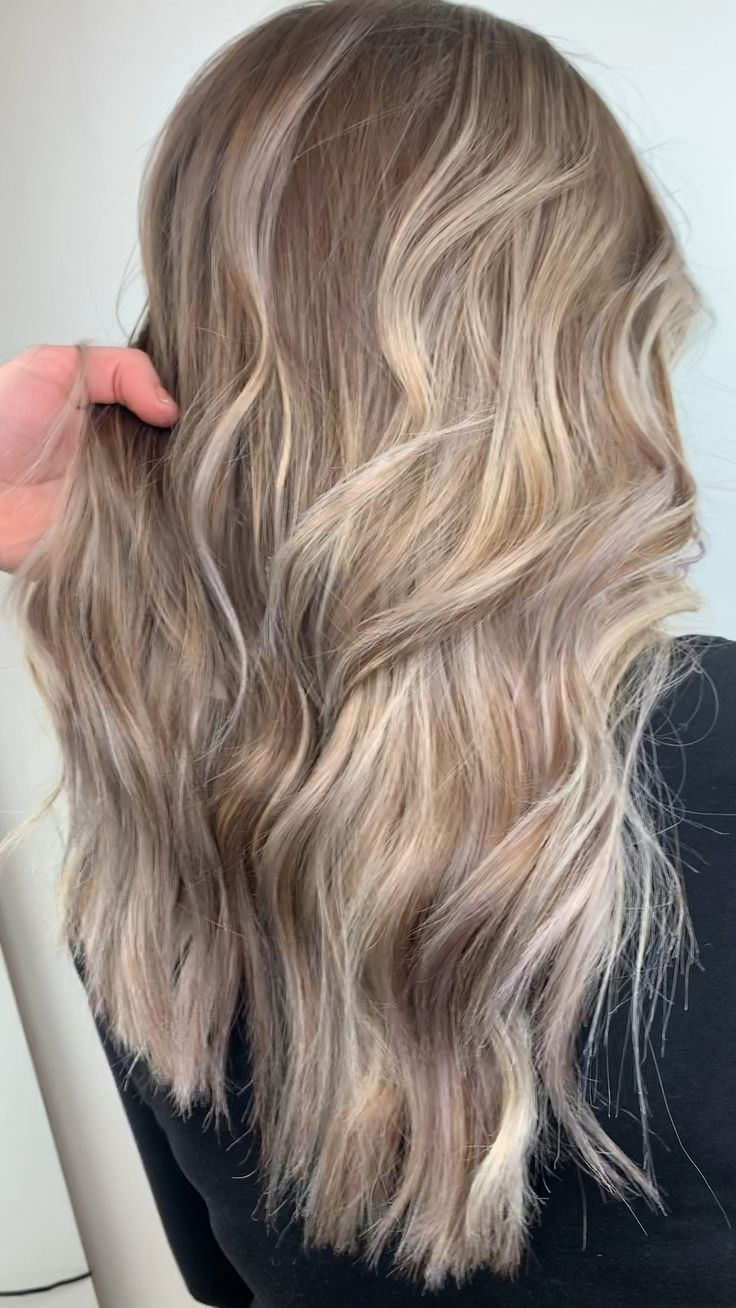 Platinum white Ashe blonde balayage highlights