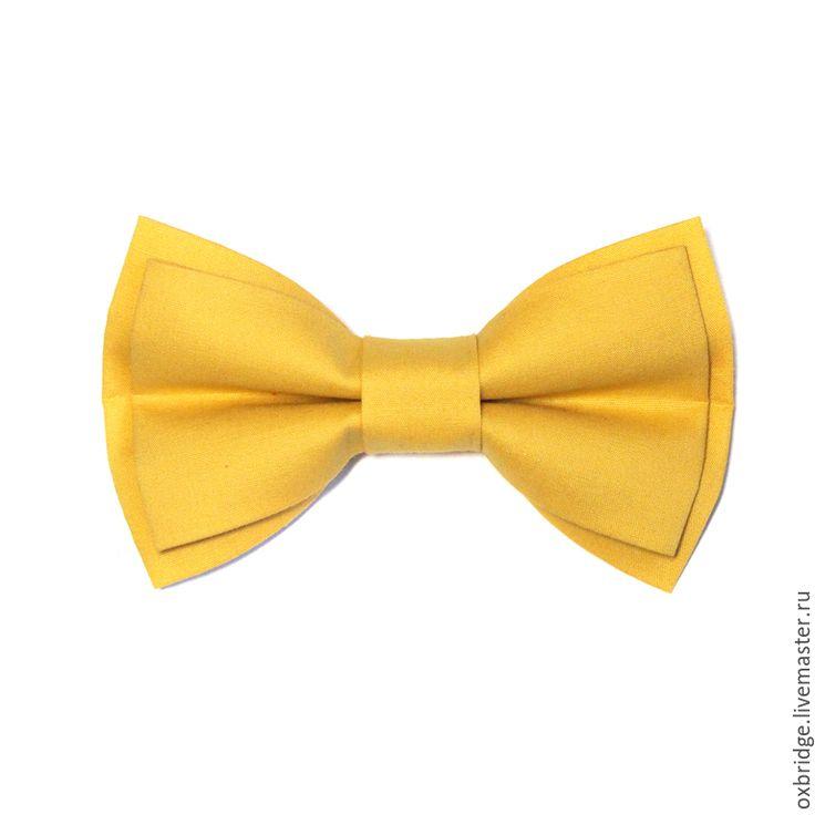 Купить Галстук-бабочка горчичного цвета / Бабочка галстук / Бабочка горчичная