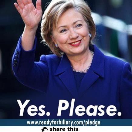 Hillary Clinton. yes please