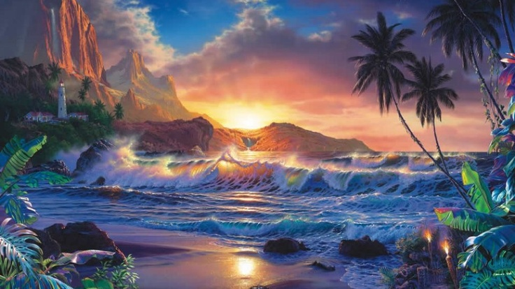 7 Best Images About Paintings Of Sunrise On Pinterest