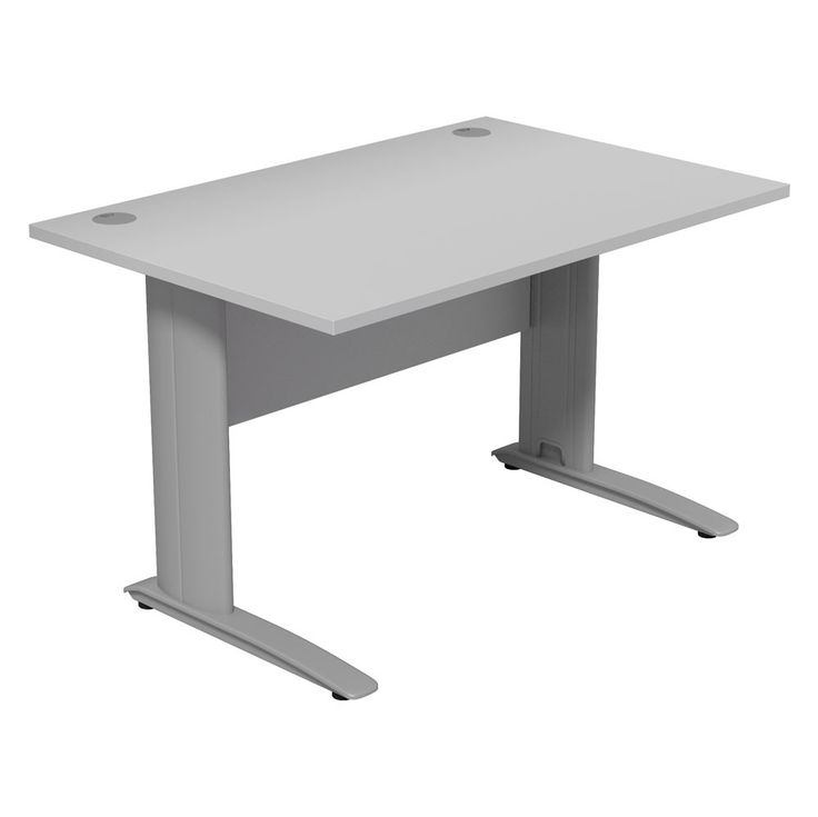 This Dusk Office Desk Comes In A Choice Between Neutral Grey And Subtle Graphite Wood Finish Its Portholes Cable Managed Legs Make For An Efficient