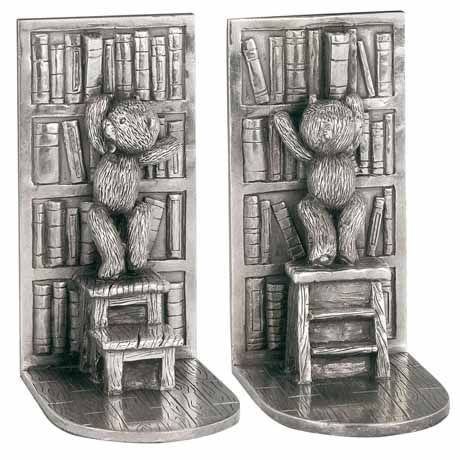 Bear Library Bookends