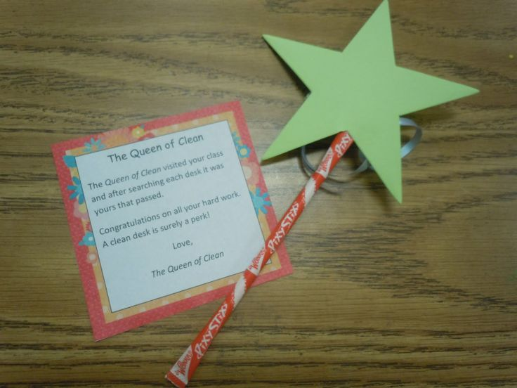 I like this better than the desk fairy: Desks Fairy, Desk Fairy, The Queen, Desks Fairies, Behavior Management, Classroom Management, Pixie Sticks, Classroom Ideas, Clean Desks