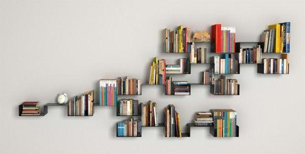 Creative bookshelves modern modular fascinating light interesting