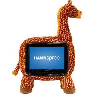 """19"""" inch tv stuffed inside of a stuffed animal - possibly Christmas gift for the toddler."""