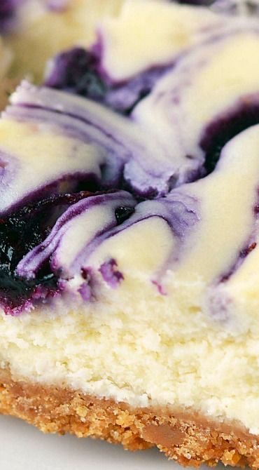 Blueberry Swirl Cheesecake Bars                                                                                                                                                                                 More