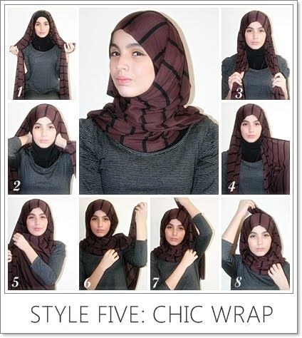 chic wrap hijab, tutorial