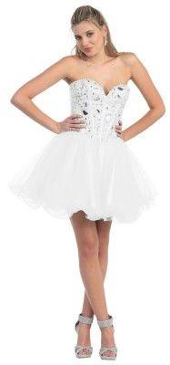 Short corset style prom dresses