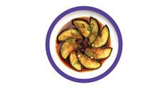 Grilled aubergine with harusame dressing, yo sushi style : recipe from Crumbs Magazine