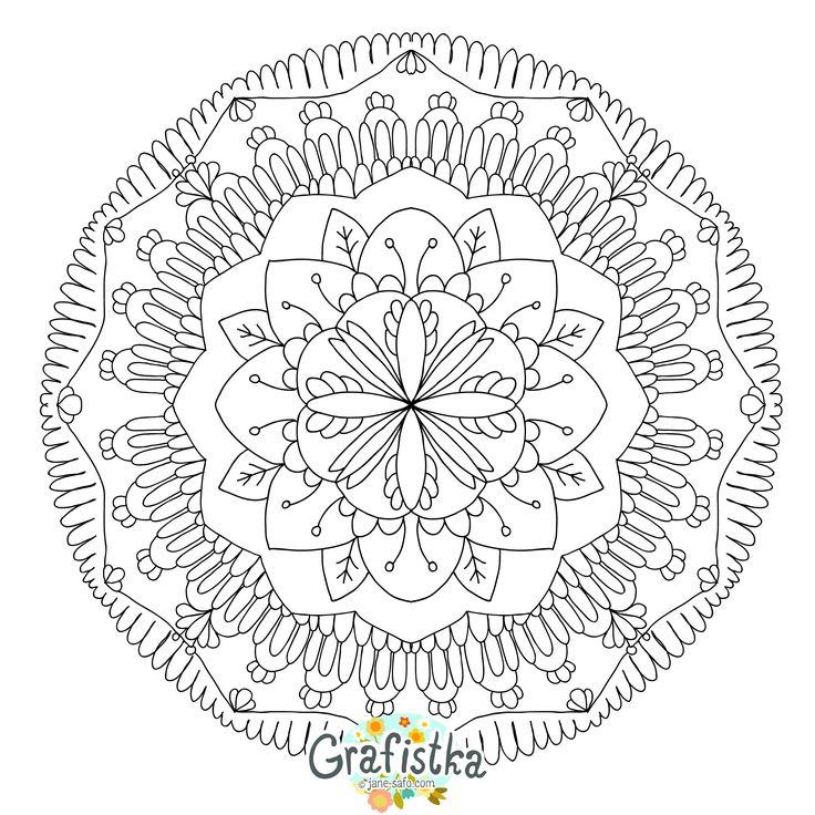 Раскраска для взрослых мандала для медитации | Rajzok, Színező