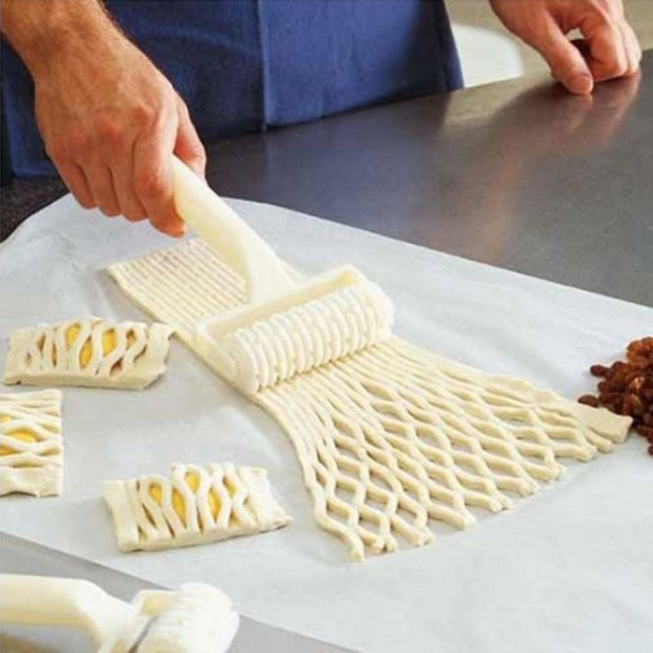 Fresh Pie Pizza Cookie Cutter Pastry Tools Bakeware Embossing Dough Roller Lattice LINSBAYWU