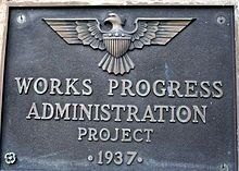 April 8, 1935 – The Works Progress Administration is formed when the Emergency Relief Appropriation Act of 1935 becomes law. It was the largest and most ambitious New Deal agency, employing millions of people to carry out public works projects, including the construction of public buildings and roads. The WPA also employed musicians, artists, writers, actors and directors in large arts, drama, media, and literacy projects.