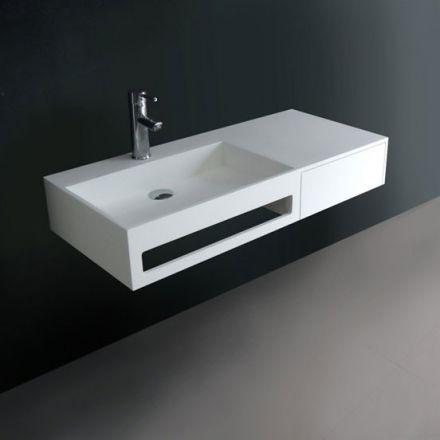 meuble pour salle de bains ralis en sandstone 100 le corps du meuble - Une Salle De Bain Est Equipee Dune Vasque