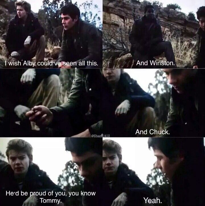 Newt and Thomas scene from The Scorch Trials
