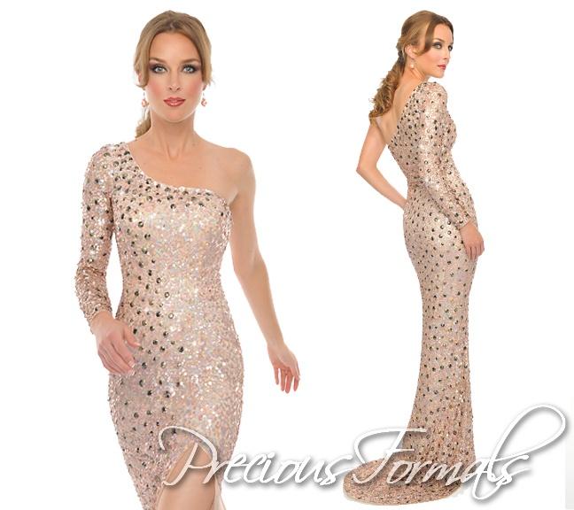 Pageant, anyone? SO elegant! #PreciousFormals #IPAProm #homecomingdresses #dress