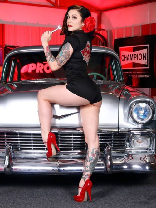 hot rods and naked hot girls