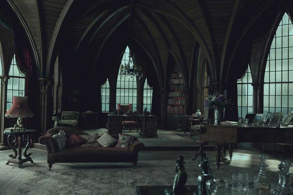 I love the vaulted ceilings from the Dark Shadows sets