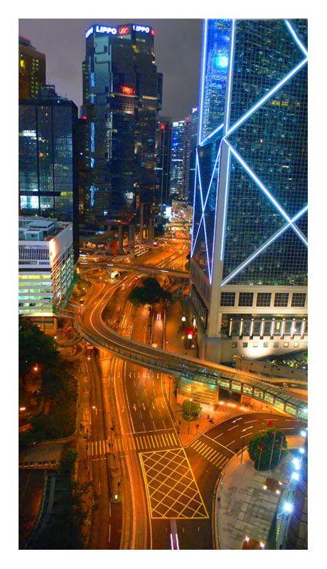 Night in the City - Hong Kong, China