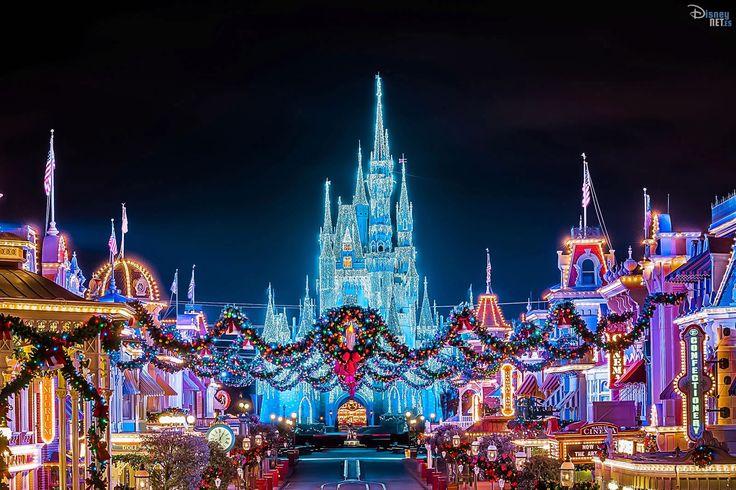 Navidad Disney #disneyland #disneyworld #navidad #christmas #magickingdom #disney