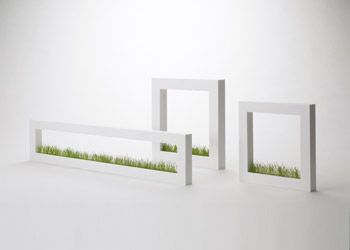 Awesome planter for the home & office to bring a little green grass in! METAPHYS garden 'picture' planter