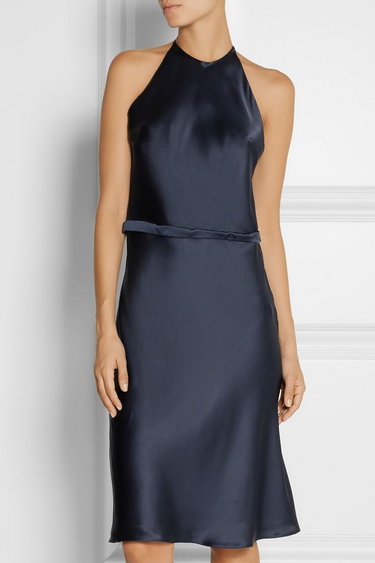 La Perla|Pizzo lace-paneled silk-blend satin nightdress |NET-A-PORTER.COM