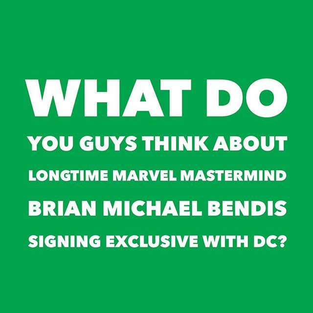 Reposting @dreamfurycomics: What do you guys think about longtime Marvel Mastermind Brian Michael Bendis Signing Exclusive With DC? #dccomics #marvelcomics #brianmichaelbendis #comics #comicbook
