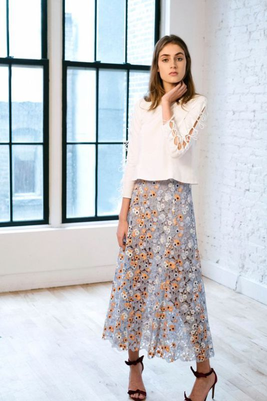 кружевная юбка, юбка из кружева