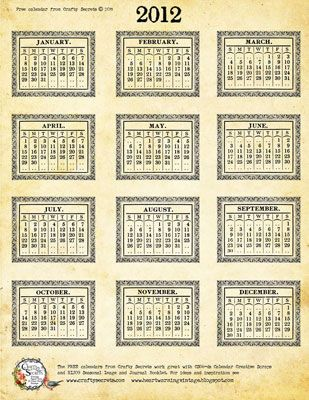 This would be great for paper crafting a calendar!