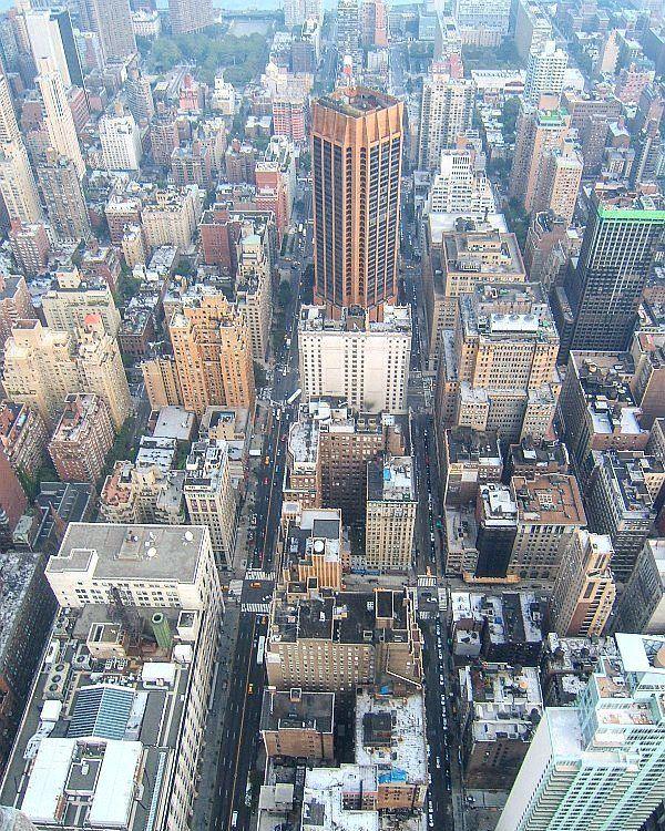 Манхеттен с Эмпайр-стейт-билдинг (Нью-Йорк)