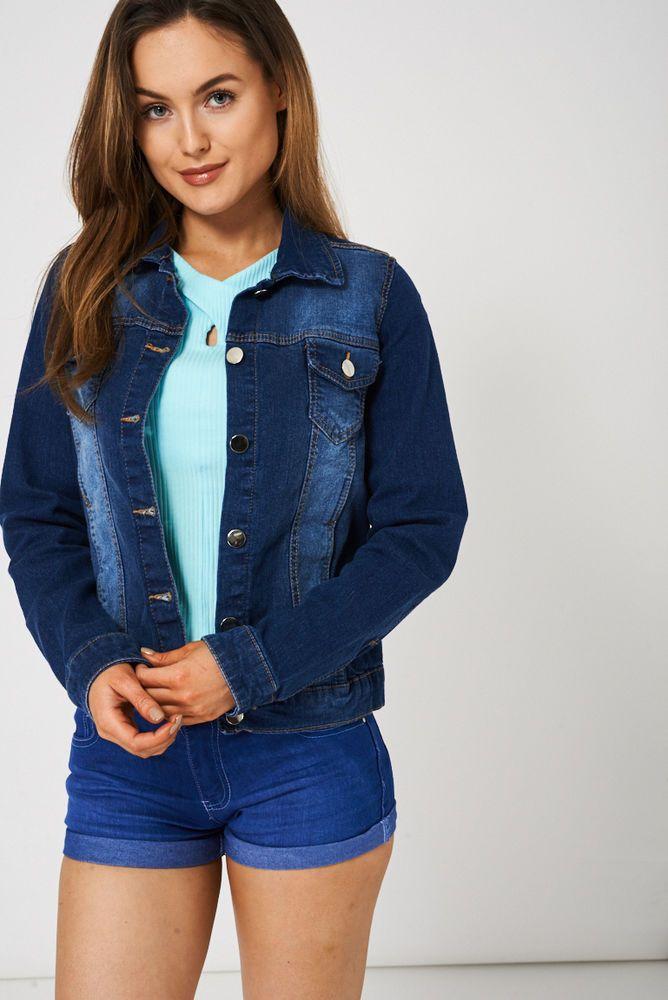 EX TOPSHOP LADIES DENIM JACKET Womens Waist Jackets Medium Wash Blue 12 14 16 18