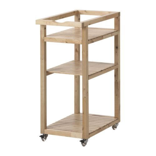 Molger cart ikea easy to move casters included easy to for Ikea cart bathroom