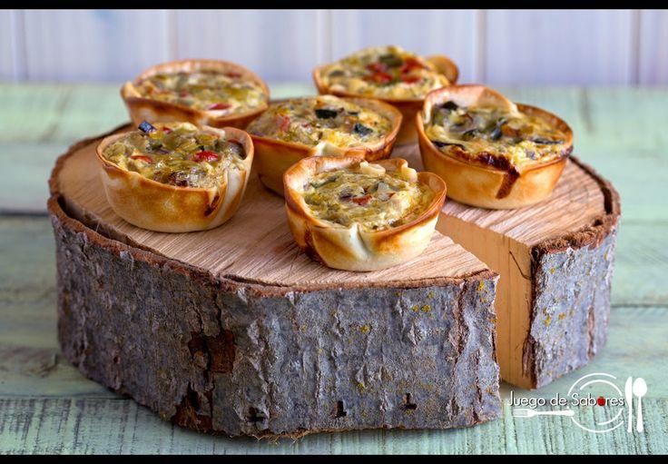 TARTALETAS DE VERDURAS   Cocinar en casa es facilisimo.com Prepara unas tartaletas de verduras para servir como aperitivo o para una cena informal